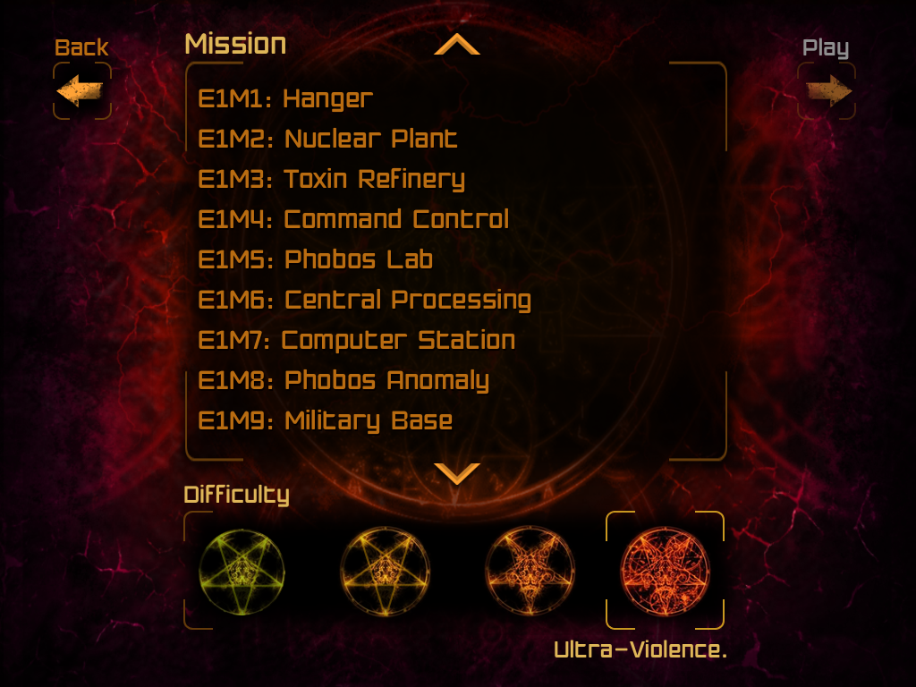 File:Map select menu in Doom Classic in v 21.png