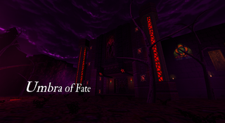 Title screen of Umbra of Fate