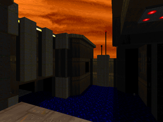 A screenshot of MAP07: Water Treatment Facility by Lee Szymanski.