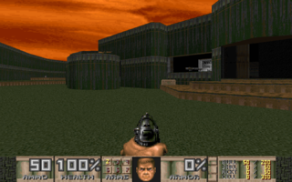 MAP01. Note how the layout is similar to that of Doom II's MAP01.