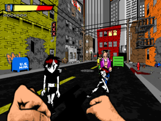 Urban Brawl's cel-shaded graphics