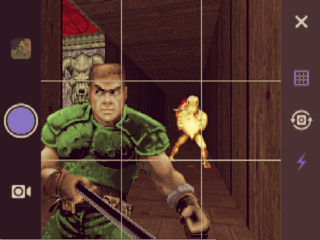 The Doomguy carefully selects his scene composition.